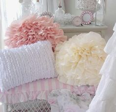 ruffle pillows for a guest room or child's room?