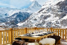 Swiss Alps dining at Chalet Les Anges, Zermatt.  #luxuryretreats #Switzerland
