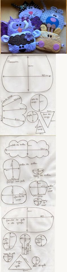 ARTE COM QUIANE - Paps,Moldes,E.V.A,Feltro,Costuras,Fofuchas 3D: Corujas
