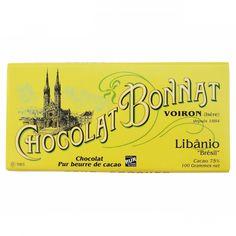 Bonnat - Tablette de Chcolat Noir - Libânio - Brésil - 75%Cacao