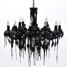 I love the drippy look of this #Black candelabra