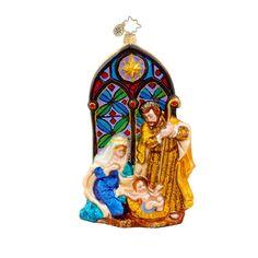 Christopher Radko Religious Christmas Ornament Holy Reflections