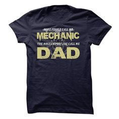 Mechanic Dad is Awesome T Shirts, Hoodies. Check price ==► https://www.sunfrog.com/Automotive/Mechanic-Dad-is-Awesome.html?41382