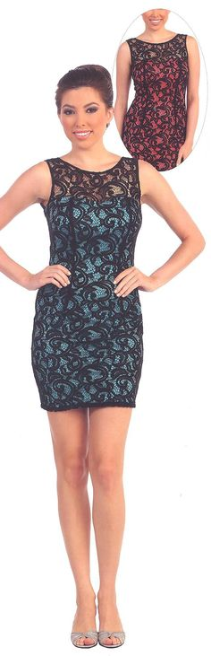 Homecoming Dresses<BR>Cocktail Dresses under $100<BR>8767<BR>Lace is Hot!