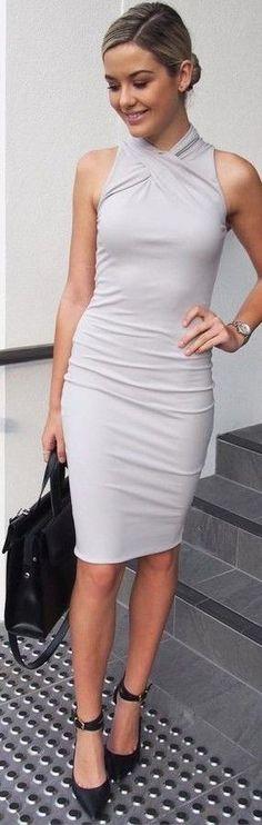 Grey Midi Dress                                                                             Source