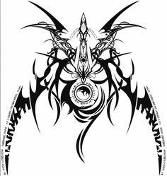 Ragna the Bloodedge (Blaz Blue) 4 Tattoo, Tattoo Drawings, Body Art Tattoos, Tribal Tattoos, Cool Tattoos, Tatoos, Sigil Magic, Magic Symbols, Ancient Symbols