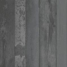 vtwonen vliesbehang steigerhout antraciet (dessin 2234-00)