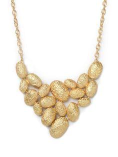 Gold Nugget Bib | Bauble Bar