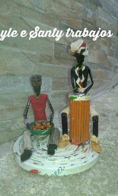 Africani con congas e cesto by Santino Cossu e Ilenia Pintus