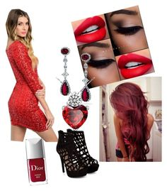 """""""Red passion"""" by olghetta30 on Polyvore featuring Bling Jewelry, Christian Dior, women's clothing, women, female, woman, misses and juniors"""