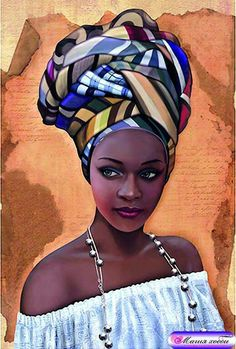 African in White – Counted Cross Stitch Patterns – Ankicoleman Designs Cross Stitch Black Girl Art, Black Women Art, Art Girl, African Art Paintings, African Artwork, Foto Poster, Natural Hair Art, Africa Art, Black Artwork