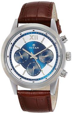 Buy Titan Neo Analog Blue Dial Men's Watch - 1766SL03 online at low price in India. #watch #wristwatch #titan #menwatch #onlineshopping #BestKartOnline Stylish Watches, Cool Watches, Wrist Watches, Men's Watches, Couple Watch, Buy Mobile, Best Watches For Men, Sunglasses Online, Seiko