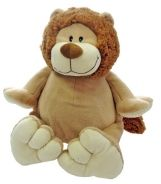 "16"" EB Embroider Lion  Embroider directly on front and back of Lion  Two removable stuffing pouches for easy embroidery.  Fits under your home machine head much easier."