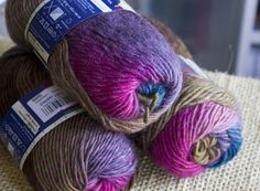 Novita Puro purple, brown and blue mix