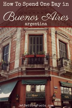 We plotted an ambitious one-day itinerary for Buenos Aires, including three neighborhoods: Centro, San Telmo and Puerto Madero. Visit Argentina, Argentina Travel, Travel Guides, Travel Tips, Travel Advice, Budget Travel, Amazing Destinations, Travel Destinations, Cool Places To Visit