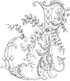 Hand Embroidered Monogram J on Photo Album Cover Embroidery Alphabet, Embroidery Monogram, Paper Embroidery, Flower Embroidery, Creative Lettering, Hand Lettering, Photo Album Covers, Fancy Letters, Illuminated Letters