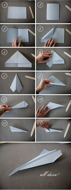 How to make a paper airplane! Single sheet scrapbook paper is now 50% off (thru 2/11, in-store only)