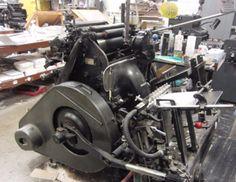 An old printing machine