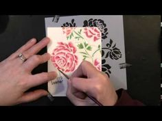 VIDEO TUTORIAL: No-line watercoloring with new Penny Black stencils