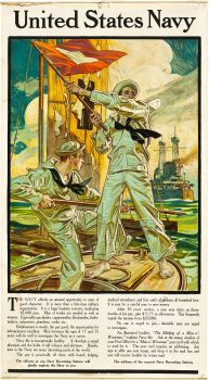 United States Navy Recruiting Poster (Street & Finney, J.C. Leyendecker Poster X - Available at 2012 March Dallas Vintage. Us Navy Recruiting, Vintage Posters, Vintage Art, Art Posters, Jc Leyendecker, Screen Print Poster, United States Navy, Norman Rockwell, Gay Art