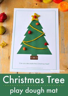 Read information on Handmade Cards Christmas Tree Mat, Diy Christmas Cards, Christmas Themes, Christmas Fun, Handmade Christmas, Christmas Activities For Kids, Free Christmas Printables, Craft Activities For Kids, Playdough Activities