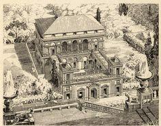 """archimaps: """"Aerial view of the Villa Sauli near Genoa """" Architecture Blueprints, Architecture Drawings, Architecture Plan, Renaissance Architecture, Historical Architecture, Classic Architecture, Futuristic Architecture, Monuments, Dream Mansion"""