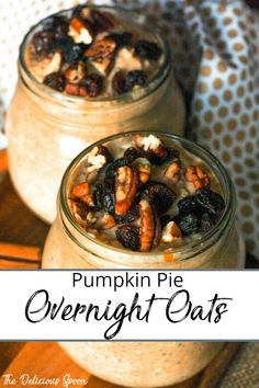 An Over Nights Oats Recipe brimming with fall recipe flavours of pumpkin spice and of course a touch of pumpkin to make this recipe taste like a slice of pumpkin pie heaven. Pumpkin Pie Oatmeal, Pumpkin Pie Smoothie, Pumpkin Spice, Oats Recipes, Pumpkin Recipes, Real Food Recipes, Vegan Recipes, Yummy Food, Healthy Breakfast Options