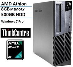 Introducing Lenovo ThinkCentre M77 Small Form Factor High Performance Business Desktop Computer AMD Dual Core Athlon 28GHz CPU 8GB RAM 500GB HDD VGA DVD Windows 7 Professional Certified Refurbished. Great product and follow us for more updates!