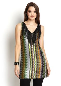 I LOVE TUNICS (they are so versatile) and this just has the coolest zigzag print!