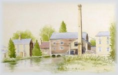 Painting of Stotfold Mill from the rear
