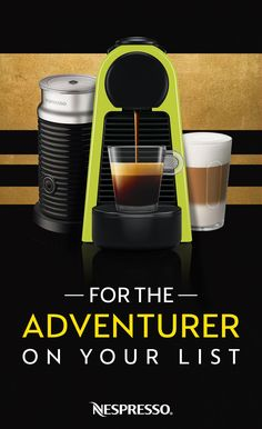 World travelers have an appreciation for well brewed coffee and an eye for distinctive design. Gift the Adventurer in your life a Nespresso Essenza Mini, so they'll have another thing to look forward to when they return from their next journey.  -Winner of an Architectural Digest 2017 Great Design Award  -Minimalist footprint  -Available in two shapes and an assortment of colors