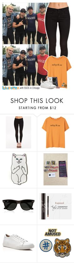 """""""Lollapalooza with 5SOS in Chicago"""" by sixsensestyles ❤ liked on Polyvore featuring ONLY, MANGO, RIPNDIP, Ray-Ban and Kenneth Cole"""