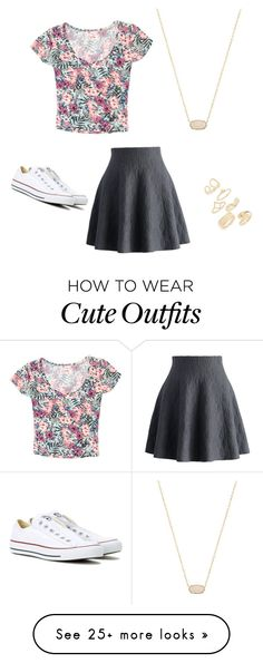 """Cute outfits 101"" by analisa-00 on Polyvore featuring Chicwish, Converse, Topshop, Grayson and Kendra Scott"
