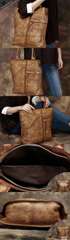 Handmade Leather handbag tote purse shoulder bag for women