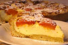 Meruňkový koláč s tvarohovou nádivkou Czech Recipes, Sweet Tooth, Cheesecake, Pie, Sweets, Homemade, Baking, Cakes, Detail