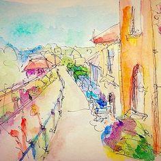 #Hythe #watercolor #watercolourpainting #drawing #tinycreations #jenifelt #art #sketch #draw #windsorandnewton #micronpen #illustration #ilovehythe #paint #painting #sketchbook #moleskine #townhouses #town #sea #livingbythesea #sketchbook #painteveryday