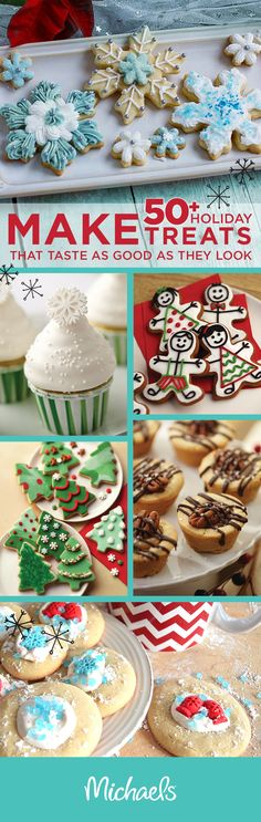 Be the talk of the Christmas party with cookies, brownies and cakes that not only look like they came from a fancy bakery, but they taste like it too! Michaels has recipe ideas and baking supplies to help you make this holiday merry.
