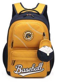 Children Primary School Waterproof Baseball Backpack Unisex Diaper Backpack, Backpack Bags, Diaper Bags, School Bags For Boys, Waterproof Backpack, School Backpacks, Primary School, Burberry, Unisex