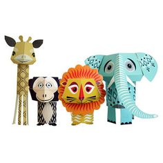 Wild Bunch Paper Animals 2 Pk now featured on Fab.