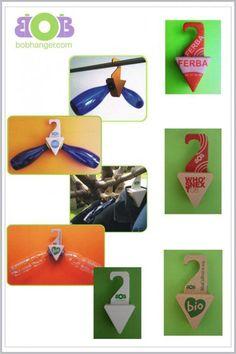 Hangers - Deux bouteilles en plastique transformées en cintre