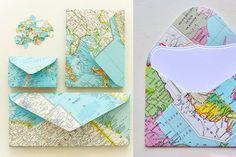 13x Landkaarten DIY Inspiratie - Girlscene #map #inspiration #diy