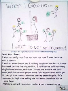 unintentionally hilarious pictures kids draw - when I grow up...