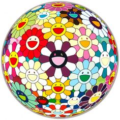 Flower+Ball+Sexual+Violet+by+Takashi+Murakami