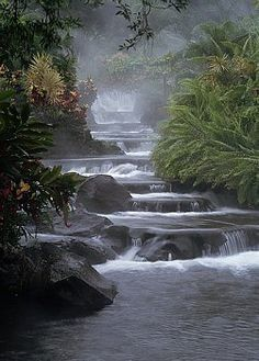 Arenal Volcano National Park, Costa Rica **i cannot recommend this place enough** All Nature, Amazing Nature, Beautiful Waterfalls, Beautiful Landscapes, Volcano National Park, National Parks, Places To See, Places To Travel, Terre Nature