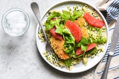 Cashew Chicken with Couscous & Grapefruit -