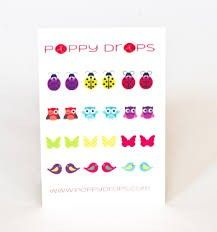 Poppy Drops I Can Fly Collection - Temporary Tattoo Earrings 1st Christmas, Little Girl Fashion, Temporary Tattoos, Ear Piercings, Stocking Stuffers, I Can, Poppies, Baby Gifts, Triangle