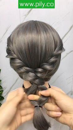 Hairstyles For Medium Length Hair Easy, Hair Tutorials For Medium Hair, Work Hairstyles, Hairstyles Videos, Braids For Short Hair, Hair Videos, Easy Braided Hairstyles, Step By Step Hairstyles, Front Hair Styles
