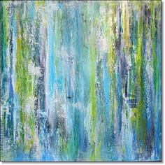 Acrylic Painting Abstract Art Textured CONTEMPORARY ART ORIGINAL Turquoise Blue Green White Painting Canvas Art 24x24x1,5 (60cmx60cmx3,6cm) by ORIGINALARTbyANDREA on Etsy https://www.etsy.com/uk/listing/206132726/acrylic-painting-abstract-art-textured