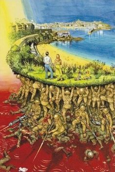 Wow what an image! This certainly puts things into perspective! Thank you men and women in service for keeping us safe! Ww1 Art, The Few The Proud, Ww1 Soldiers, Put Things Into Perspective, Head In The Sand, Happy Memorial Day, Back Home, One Pic, Art Sketches