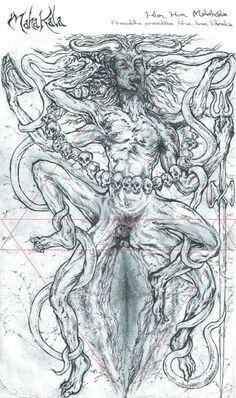 MahaKala (the ultimate form of Shiva as Time and Eternity) by Orryelle Defenestrate-Bascule. Kali Yantra, Shiva Shakti, Kali Goddess, Mother Goddess, Blacks In The Bible, Shiva Art, Occult Art, Silhouette Art, Creative Posters